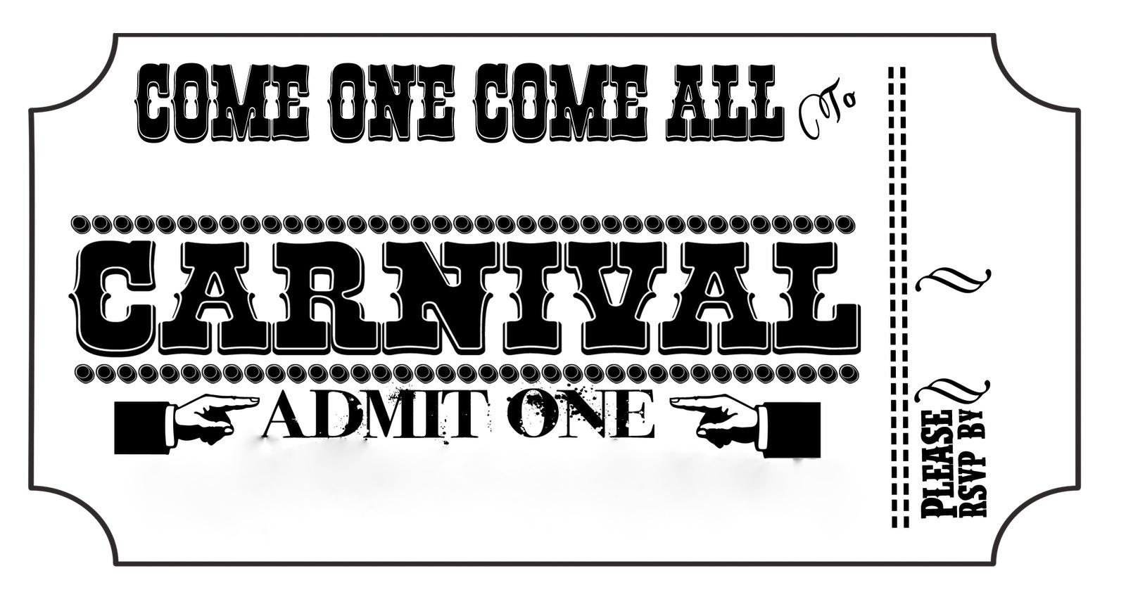 ticket template for mac - carnival wedding diy invitation tickets