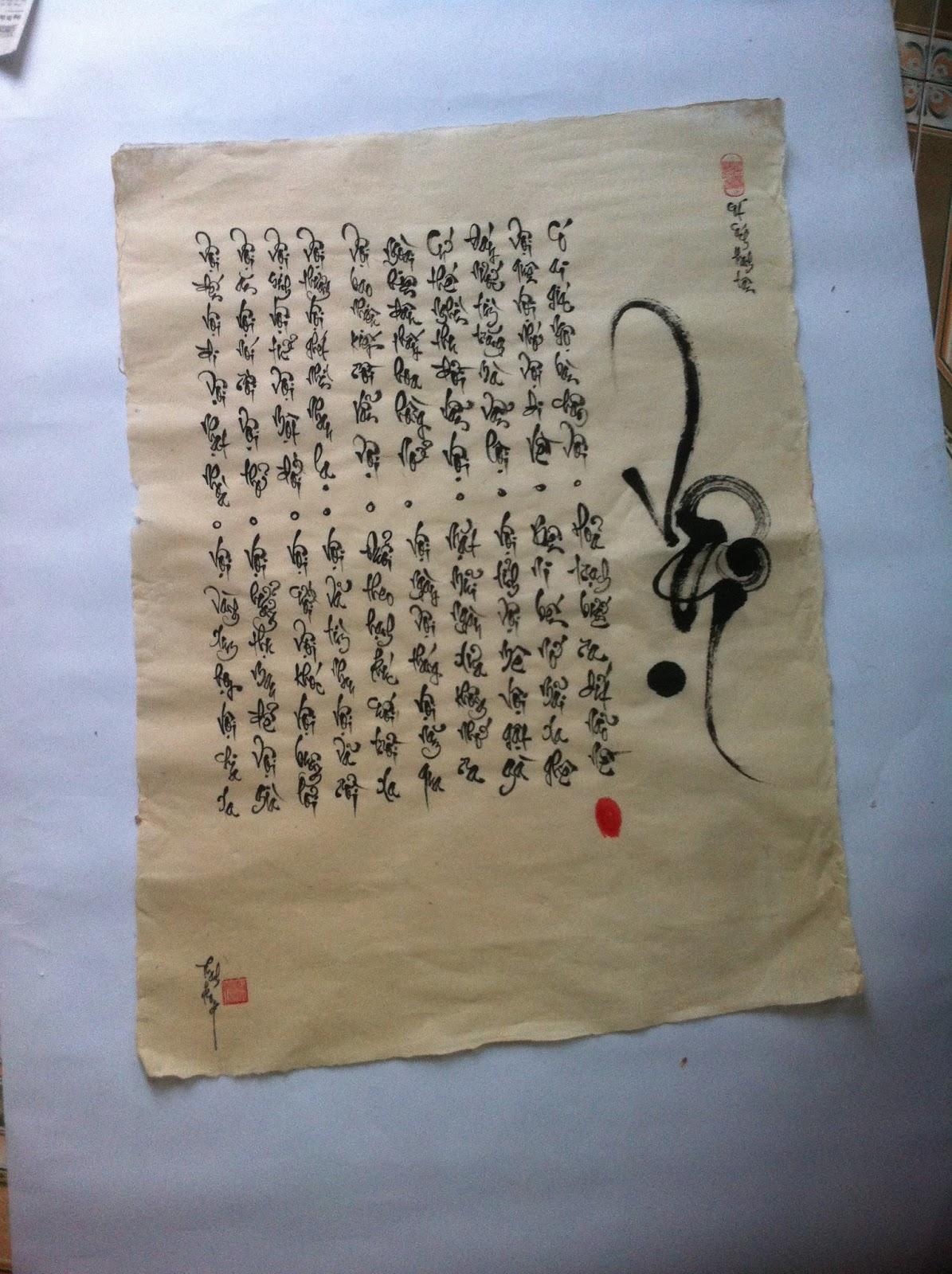 Viết chữ thư pháp tại Hải Phòng