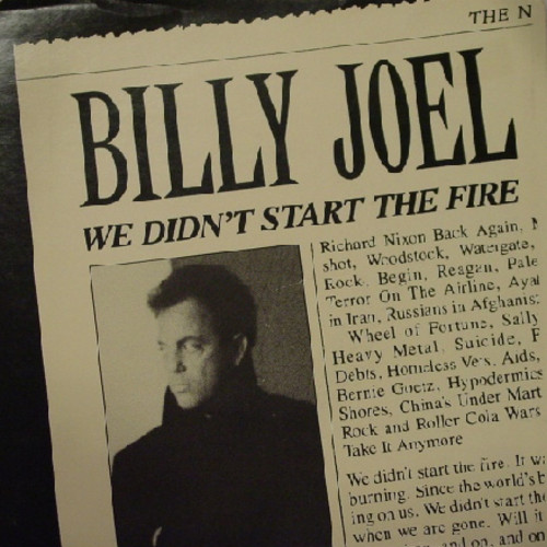 We Didn T Start The Fire Billy Joel: Twostepcublog: Songoftheday 11/21/16