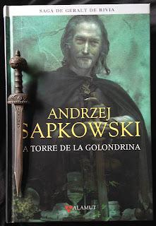 Portada del libro La torre de la golondrina, de Andrzej Sapkowski