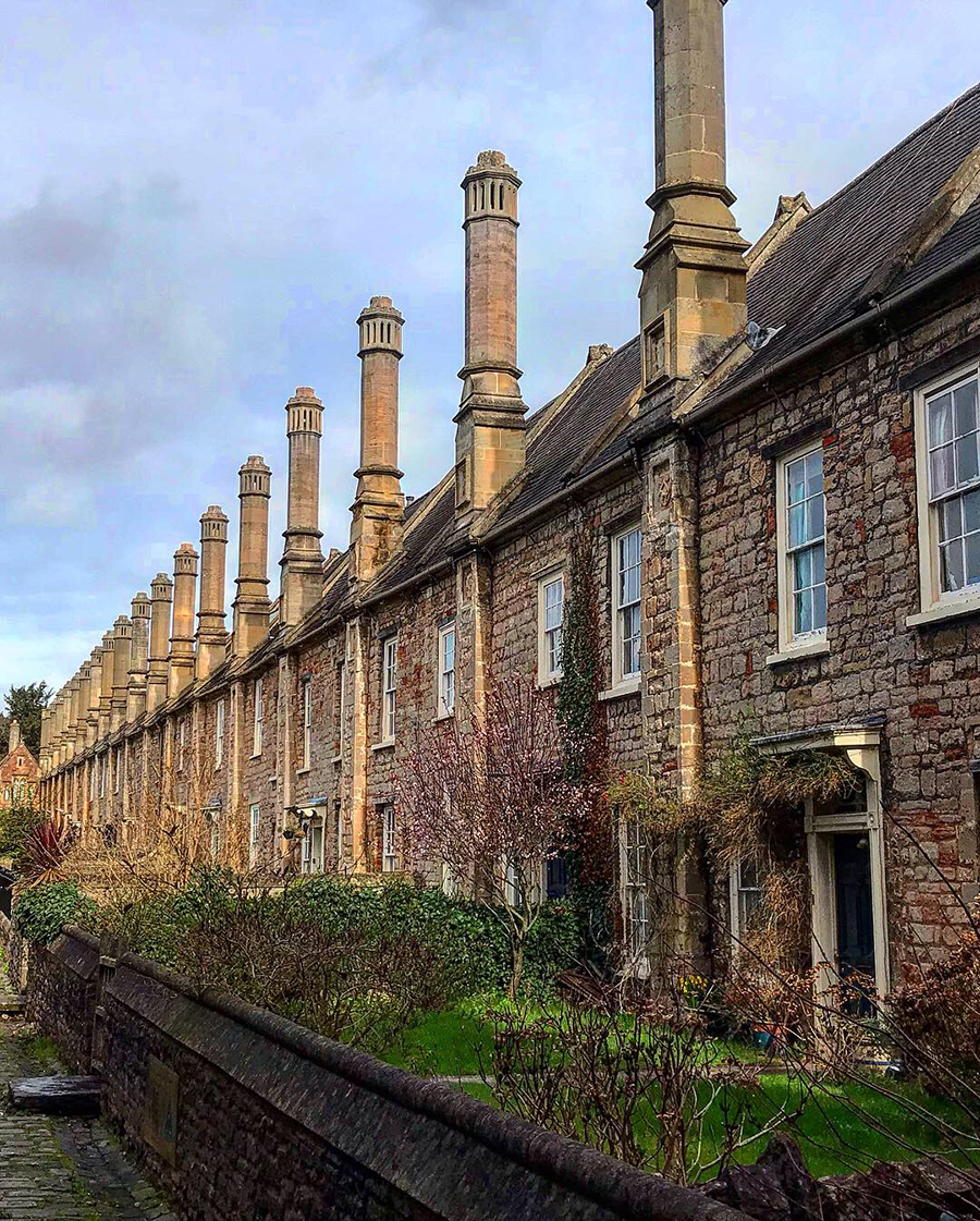 Europas äldsta gata i Wells, Somerset