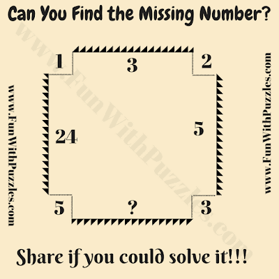It is brain twister puzzle of math in which your challenge is to find the missing number inside the Rectangle which will replace the question mark