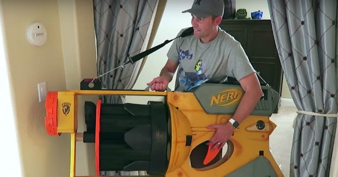 Darts For Sale >> NEWS: Behold the world's largest Nerf gun | The Test Pit