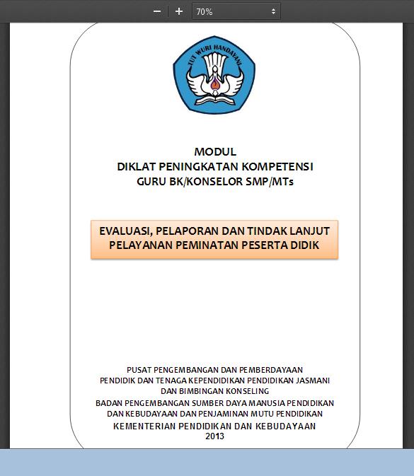 Contoh Instrumen Evaluasi Program Bk Kurikulum 2013 Administrasi