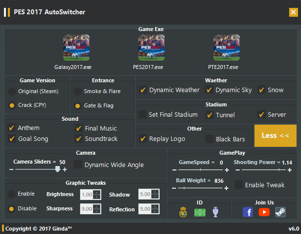 Auto Switcher Tool | V6 0 | FINAL | Pes2017 | Released