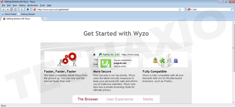 Wyzo Browser Screenshot