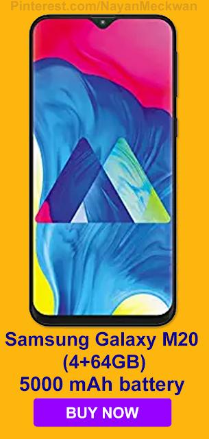 Samsung Galaxy M20 (4+64GB) Pricing in India 2019