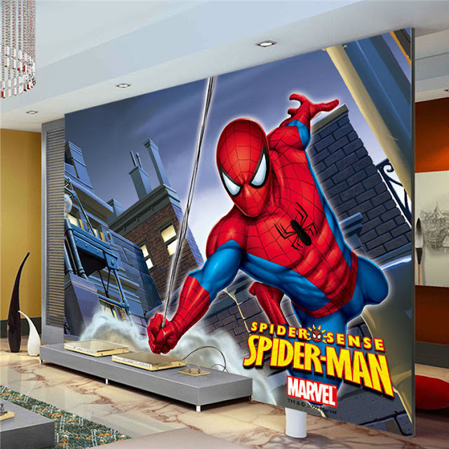Spiderman Wall Mural Kids Room