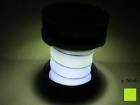 2. Stufe: OUTAD 2-in-1 Outdoor Wireless Bluetooth Lautsprecher & LED Lampe mit eingebautem Mikrofon, einstellbarem Licht und Broadcom 3.0