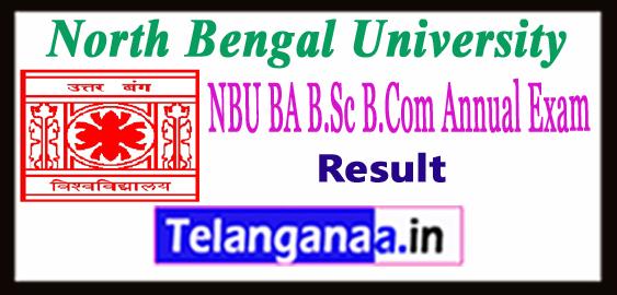 NBU North Bengal University BA B.Sc B.Com Part 1 2 3 UG Result 2018