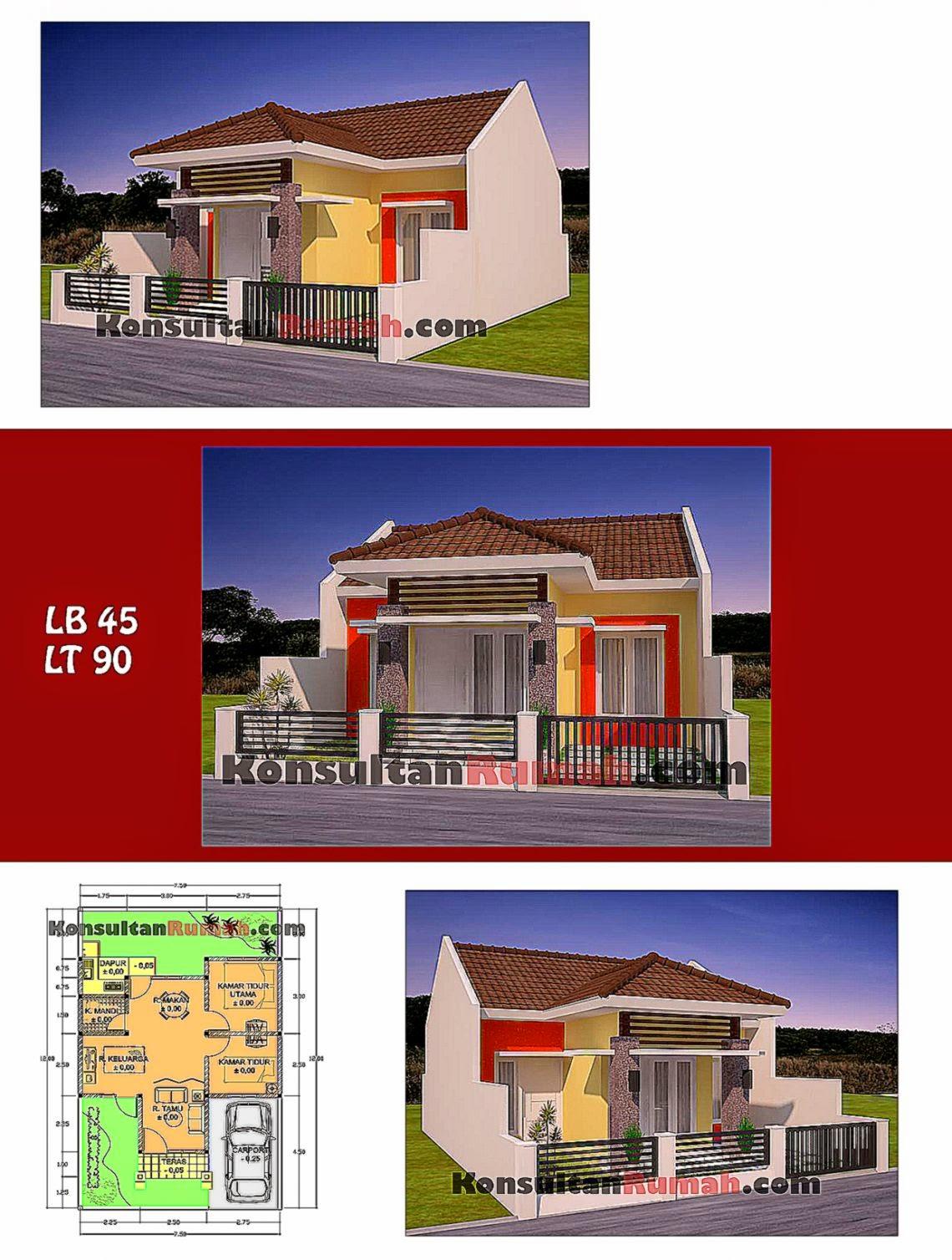 Denah Rumah Minimalis Type 45  Design Rumah Minimalis