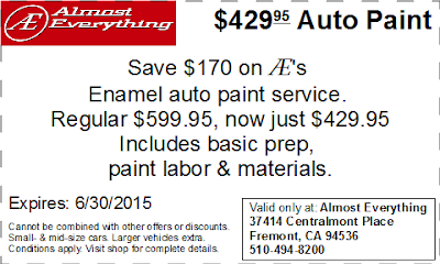 Coupon $429.95 Auto Paint Sale June 2015