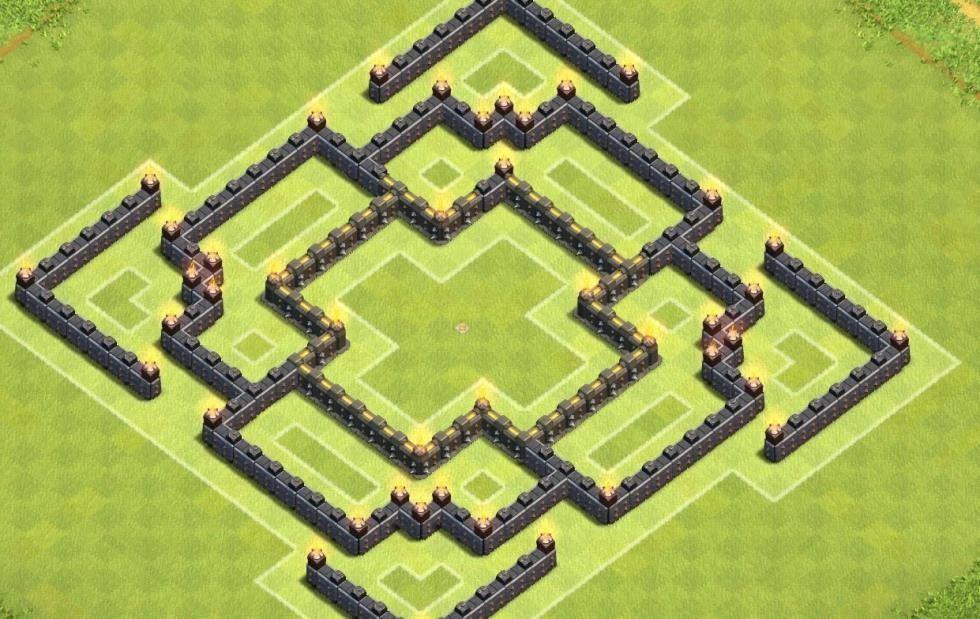 clash of clans 4. seviye k�y d�zeni