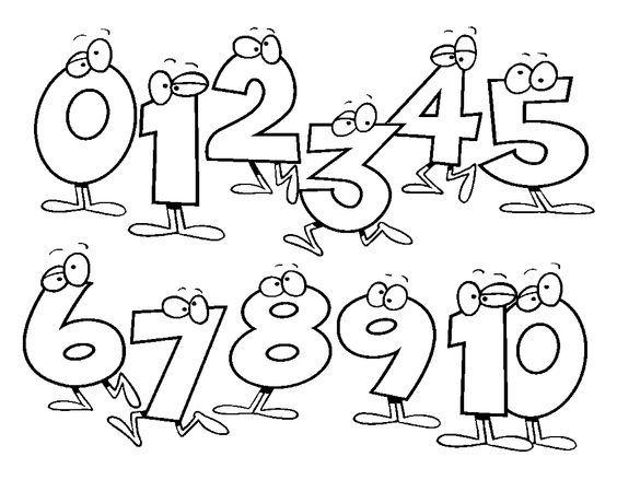 Dibujos para Colorear números