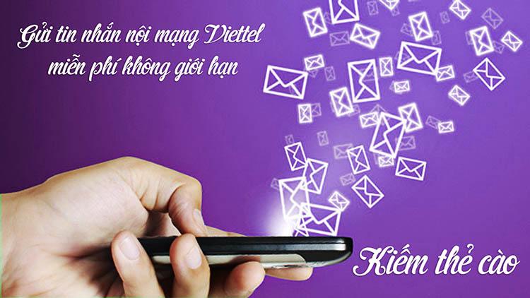 Hướng dẫn gửi tin nhắn nội mạng Viettel miễn phí không giới hạn và cách kiếm đểm để đổi thẻ cào