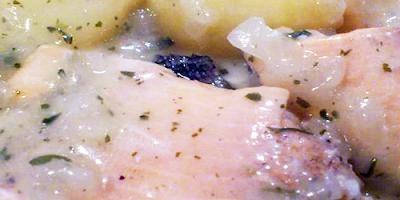 Trucha en Salsa con rabanitos receta