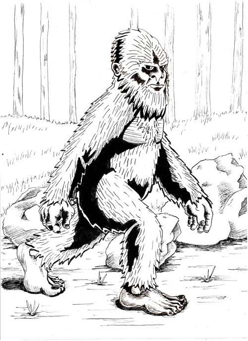 Bigfoot Coloring Pages