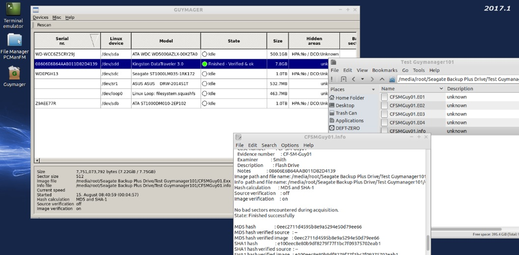 Digital Forensics Examiner: Digital Forensics: GUYMAGER Acquisition Tool