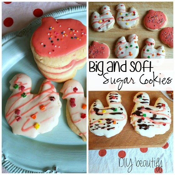 soft sugar cookies at www.diybeautify.com
