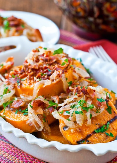 Grilled Sweet Potato Salad With Sweet & Sour Bacon Dressing