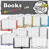 https://www.teacherspayteachers.com/Product/Books-Rainbow-Clip-Art-2579130