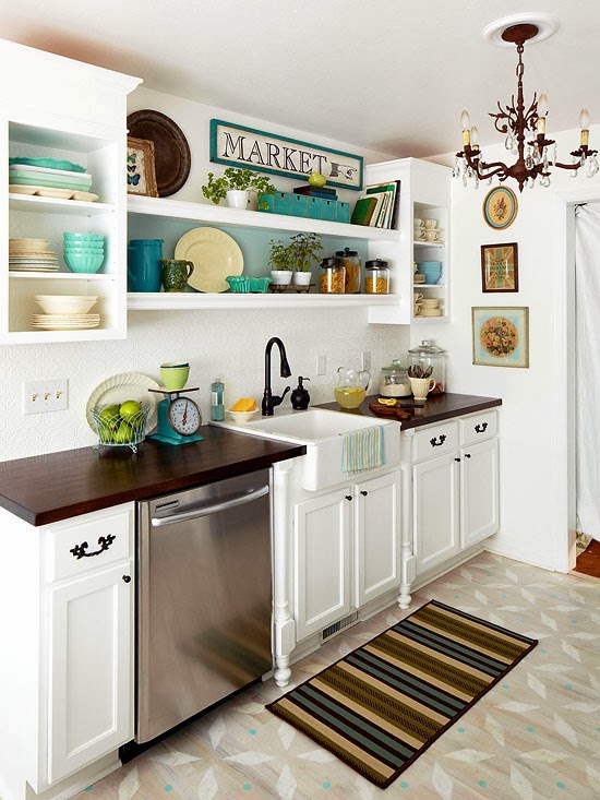 2014 easy tips for small kitchen decorating ideas 4