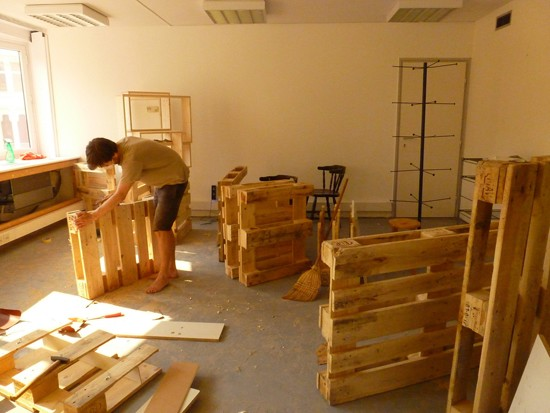 Mueblesdepaletsnet Planos 3D para amueblar una oficina