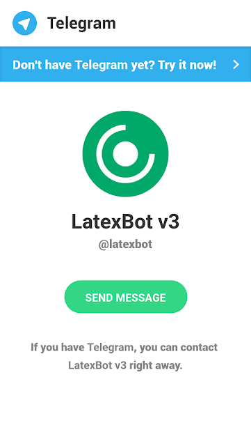 Abrir LatexBot v3 para o Telegram