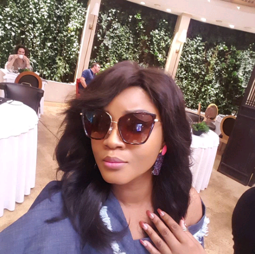 Omotola Shares a selfie from her birthday Gateway- Looks Sweet 16