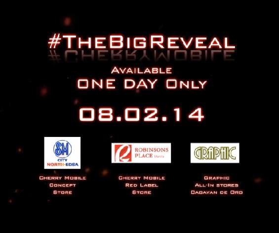 "Cherry Mobile ""The Big Reveal"" Sale on August 2, 2014"