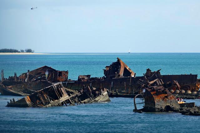 Schiffs Wrack Wreck Moreton Island schnorcheln Tangalooma