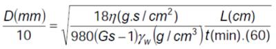 diámetro de la partícula hidrometría