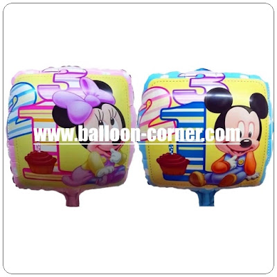 Balon Foil Segiempat MICKEY MINNIE MOUSE
