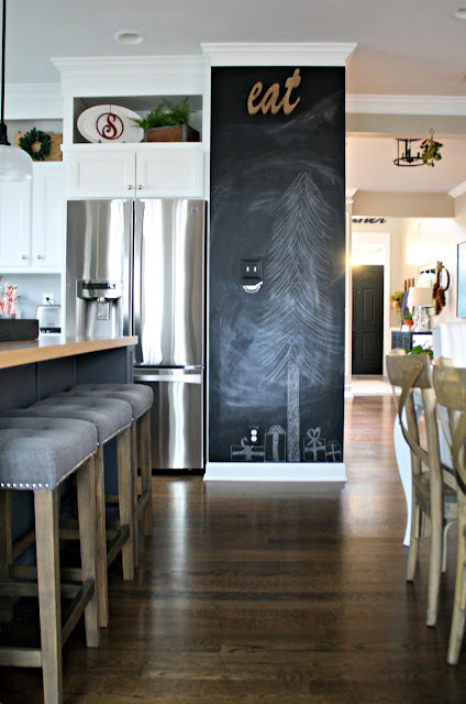 large chalkboard wall