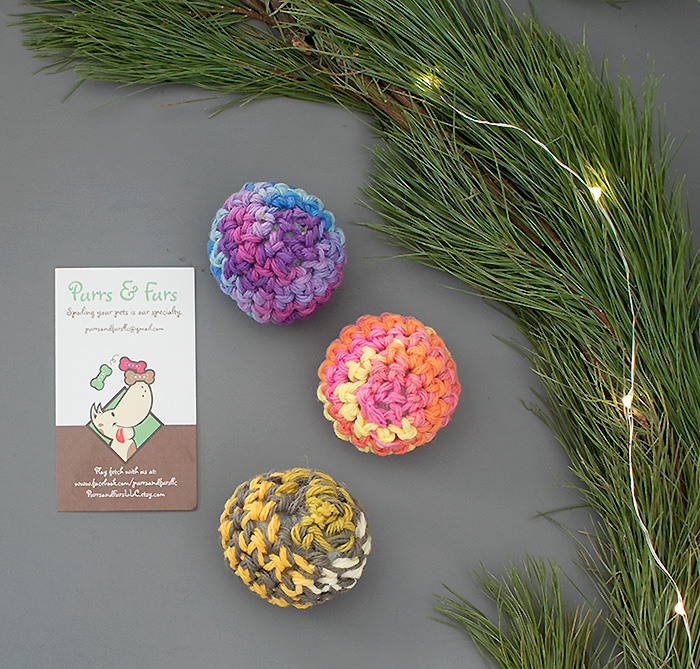 Purrs & Furs Crochet Catnip Toy Balls