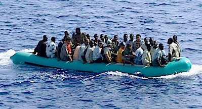 Lampedusa: boatload of refugees #3