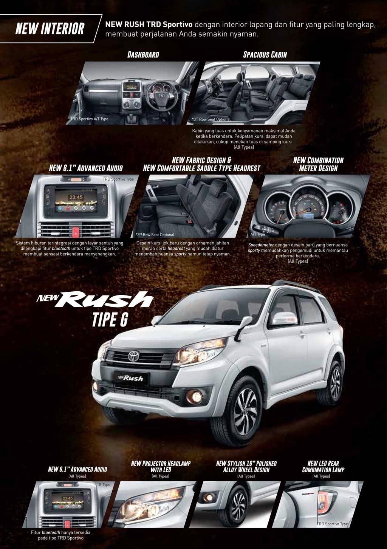 Spesifikasi Rush-2015 Facelift