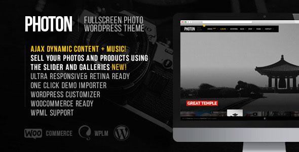 Free Download Photon Fullscreen Photography WordPress Theme
