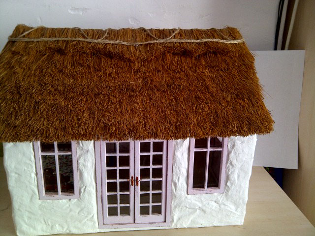 Thatch Cottage Miniature Thatch Roof Tutorial