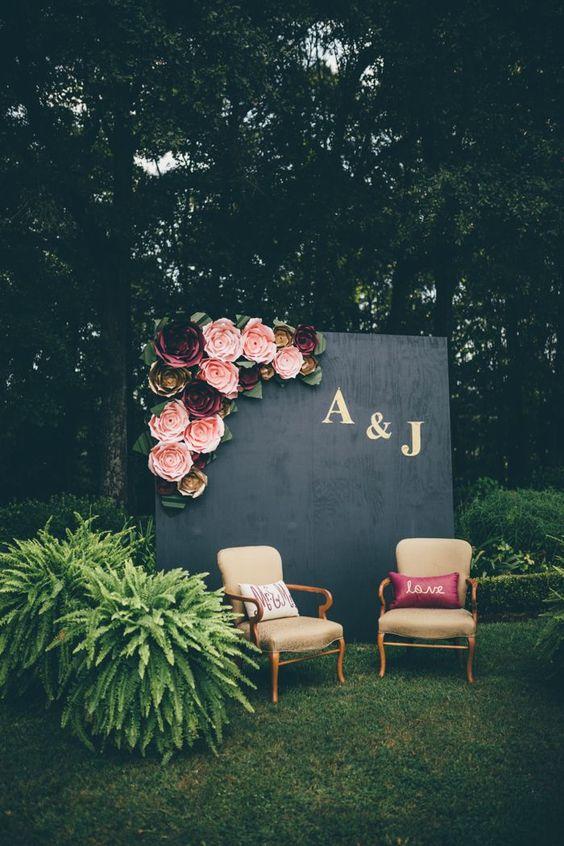 Black Wedding Backdrop Ideas For The Ceremony / life decor & fashion