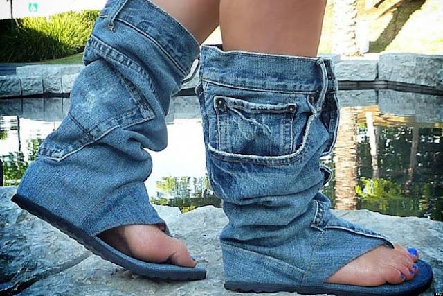 Nopersonality Aperte sulla Caviglia Donna, Blu (Denim Pet2), 38 EU/39 EU