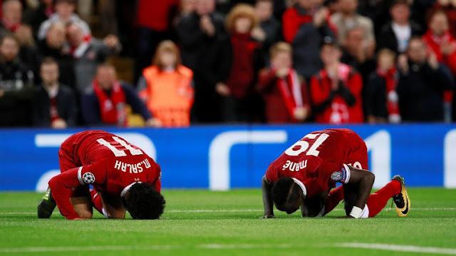 Salah Mane Pemain Muslim Liverpool Sujud Syukur