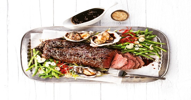Fillet Of Beef With Soy, Sake & Oysters Recipe