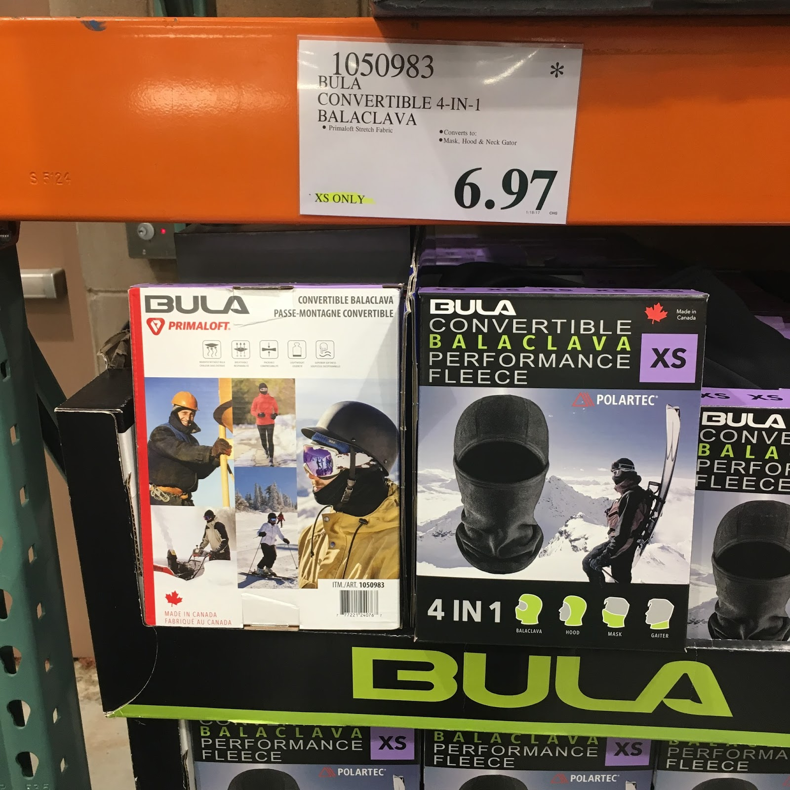the costco connoisseur my costco travels frederick maryland i also got a bula convertible 4 in 1 balaclava item 1050983 marked down to 6 97 for my mom so she can run in the wee hours of the morning out her