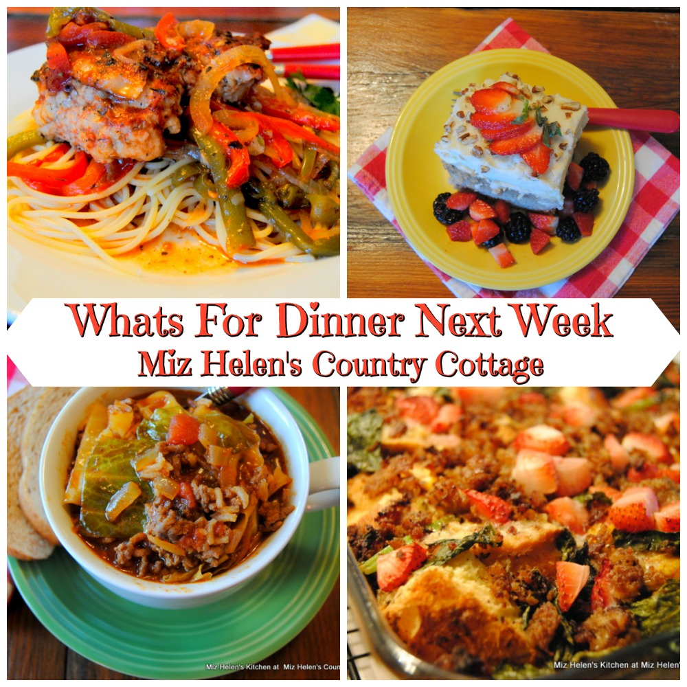 Whats For Dinner Next Week * Week of 1-26-20