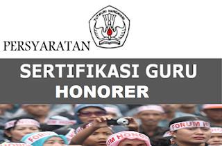 persyaratan sertfikasi guru honorer