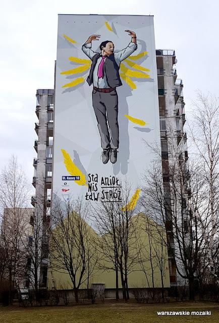 Warszawa Warsaw Ursynów Kazury graffiti blok Anioł Stanisław