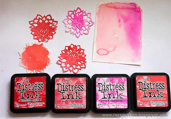 Layers of ink - Gatefolded Pink Card Tutorial by Anna-Karin with Katelyn Lizardi Sizzix dies