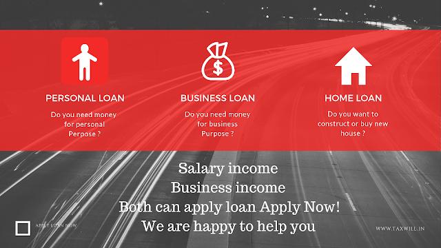 Apply Personal Loan, Home Loan, Loan Against Property, Business Loan