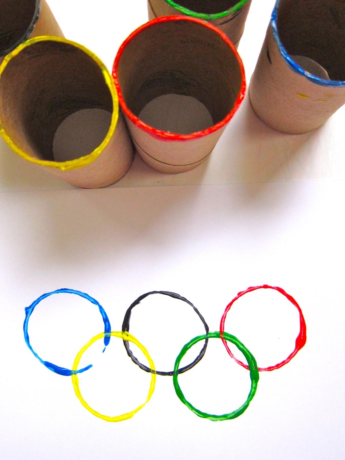 Artividades  Arte con los Aros Olimpicos